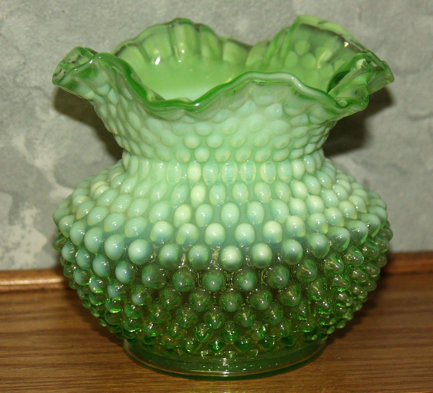 vintage milk glass bud vase of 35 antique green glass vases the weekly world inside big vintage 50 sfenton glass lime opalescenthobnail