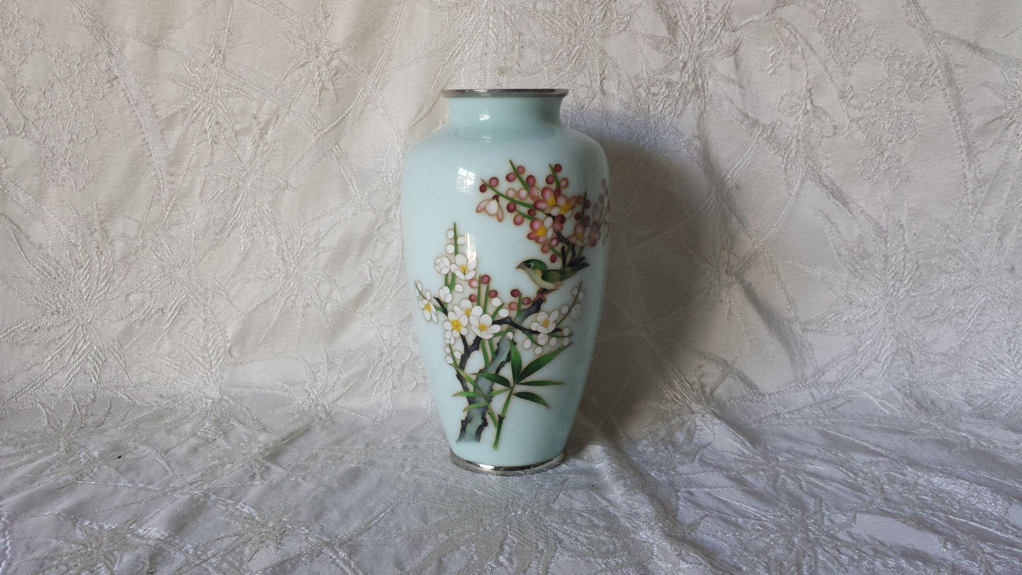 vintage porcelain vases of vintage japanese cloisonne vase w flower blossoms bird antiques for vintage japanese cloisonne vase w flower blossoms bird