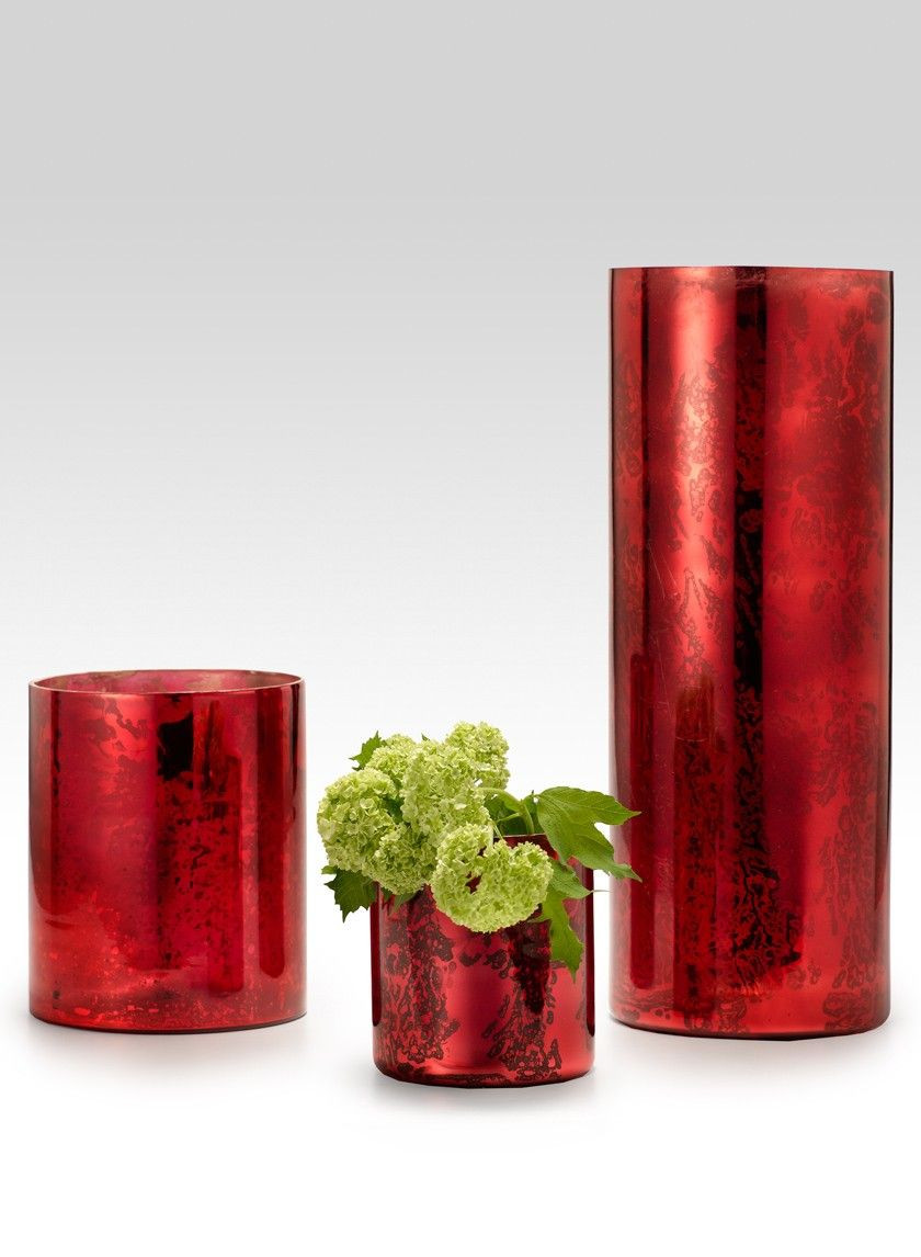 vintage red vase of antique red glass cylinders vintage country weddings silk floral with antique red glass cylinders