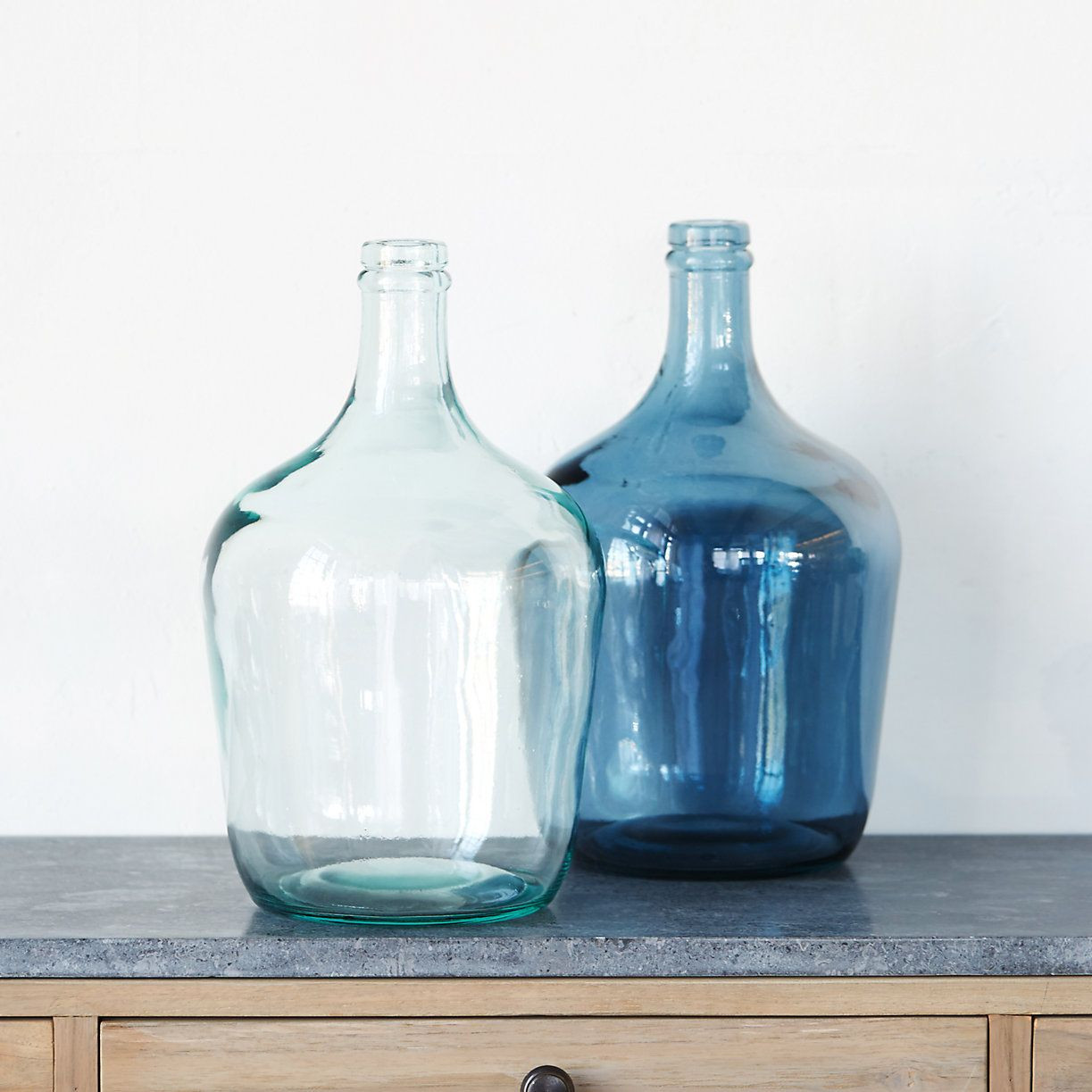 vintage tall blue glass vase of glass bottleneck vase house stuff pinterest vintage wine for inspired by the shape of vintage wine jugs this colorful vase has a tall slim neck to hold a bouquet of fresh cuts steady glass wipe clean with damp