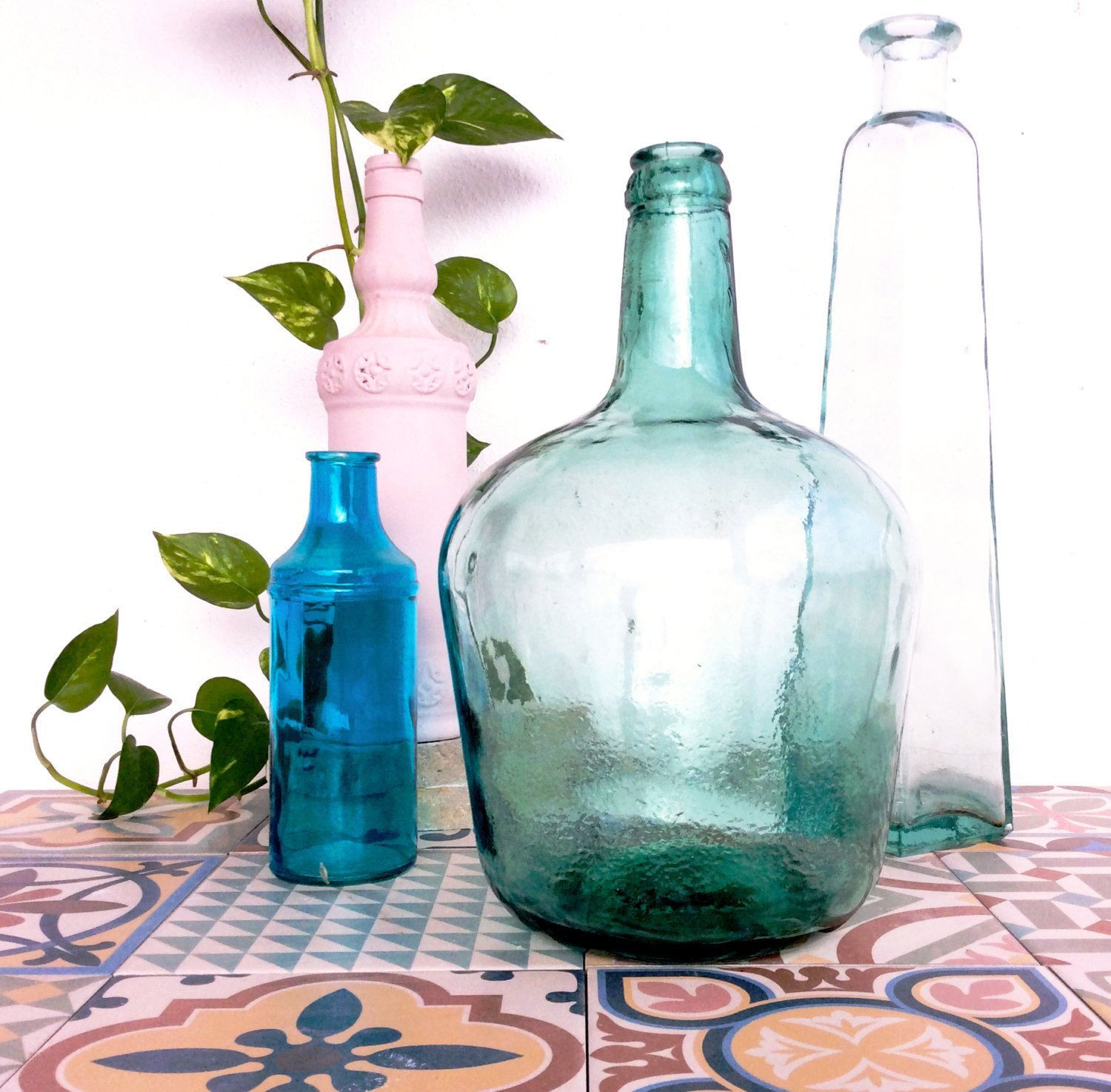 vintage tall glass vases of 35 antique green glass vases the weekly world regarding vintage viresa demijohn green glass bottle from spain by noaparis