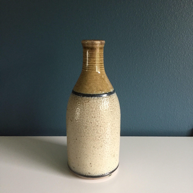 "vintage tall orange glass vase of jeff procter studio pottery vase vintage oregon pottery throughout dŸ""Žzoom"