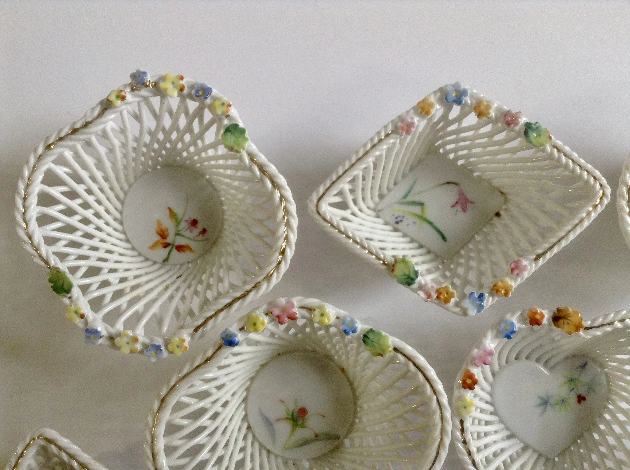 vintage ucagco ceramics japan vase of vintage ucagco japan floral lattice porcelain miniature baskets with click to expand a· vintage ucagco japan floral lattice porcelain