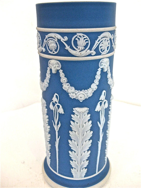vintage wedgwood vases of vintage wedgwood blue dip jasperware cylinder vase ebay pottery for vintage wedgwood blue dip jasperware cylinder vase ebay