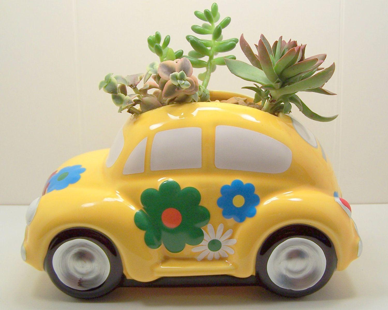 volkswagen bug flower vases of fathers day gift idea succulent planter love bug diy kit 29 99 pertaining to fathers day gift idea succulent planter love bug diy kit 29 99 via etsy