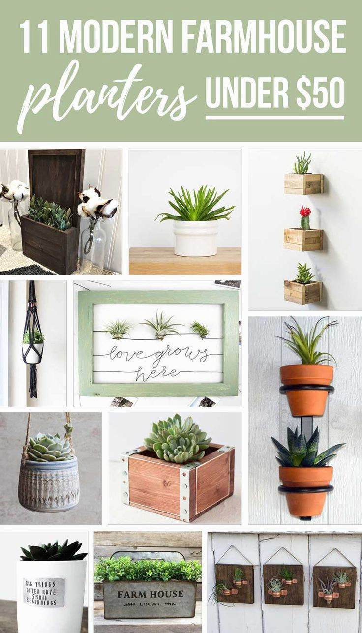 wall flower vase holder of awesome h vases wall hanging flower vase newspaper i 0d scheme wall in fresh 11 modern farmhouse planters under 50 you ve gotta have of awesome h vases wall