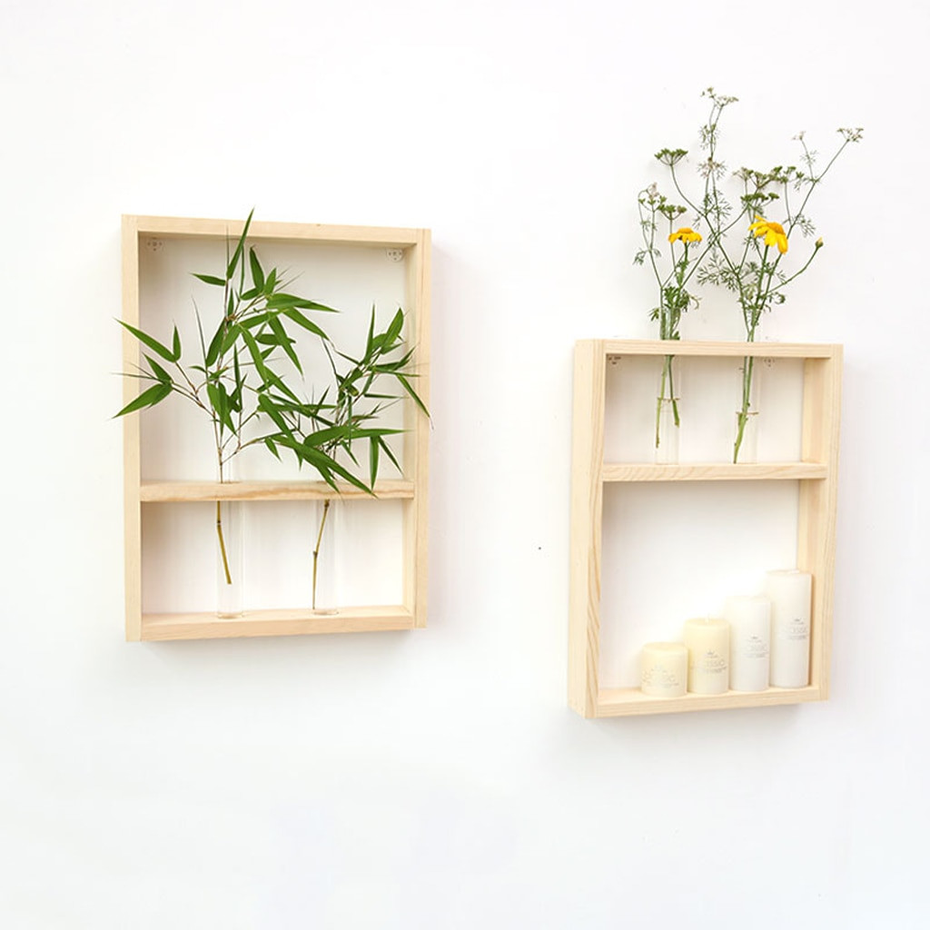 wall flower vase holder of wall hanging clear glass test tube flower vase in wooden stand home in wall hanging clear glass test tube flower vase in wooden stand home decor in vases from home garden on aliexpress com alibaba group
