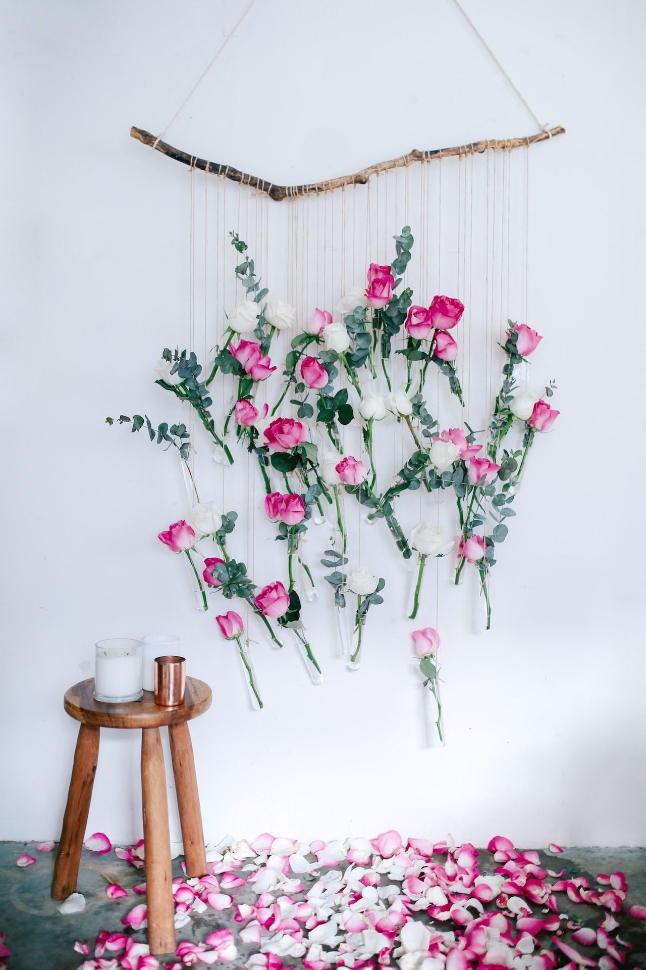 wall mounted flower vase of diy floral vase wall hanging using rose and eucalyptus blog with regard to diy floral vase wall hanging using rose and eucalyptus