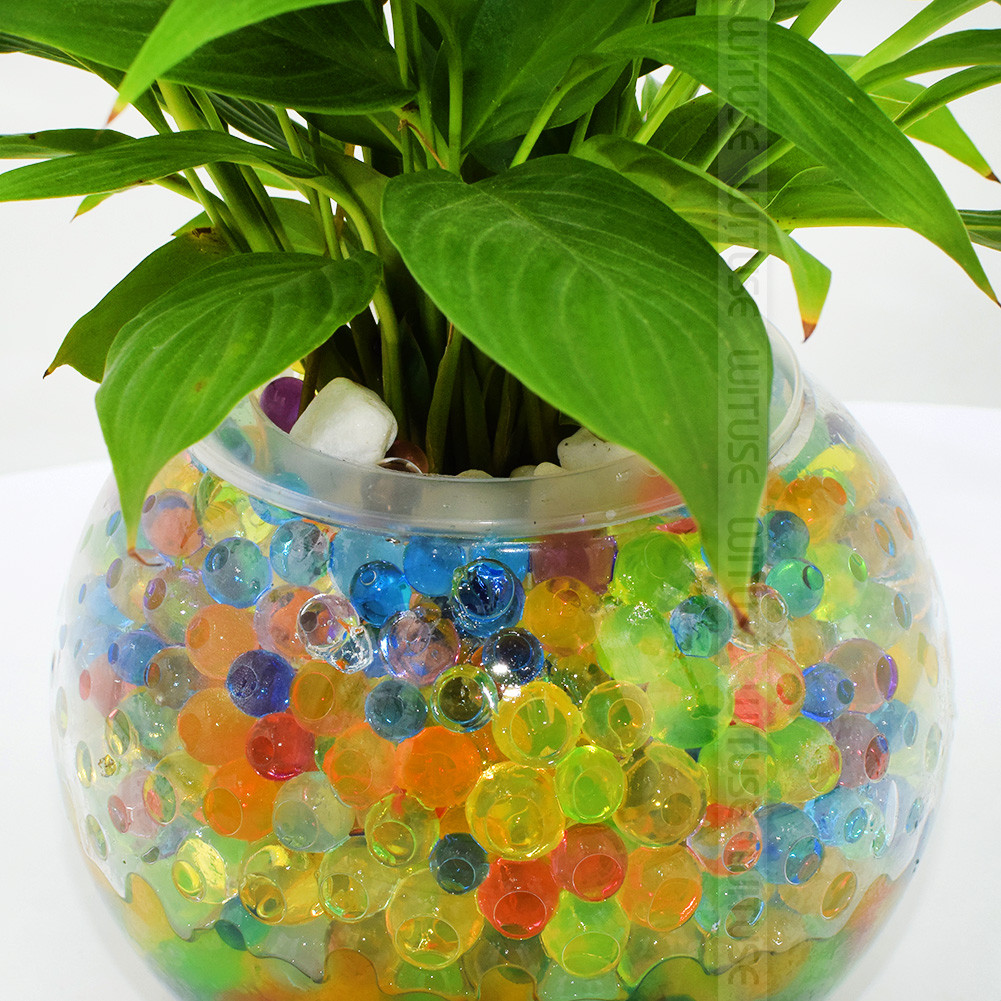 Water Beads for Vases Of 10000pcs Plant Crystal soil Mud Grow Water Beads Hydrogel Magic Gel with 10000 X Crystal soil Beads