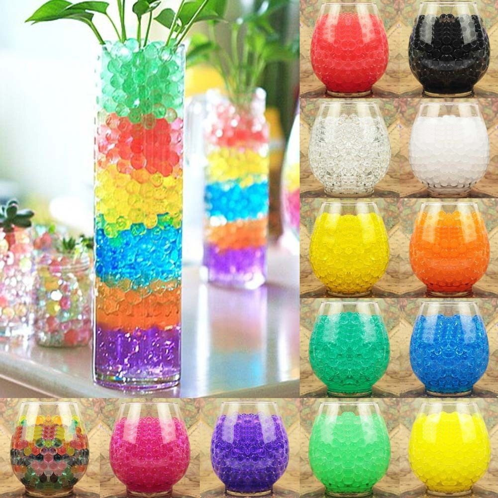 Water Beads for Vases Of High Quality 10000pcs Water Pearls Gel Beads Balls Home Vase for High Quality 10000pcs Water Pearls Gel Beads Balls Home Vase Decoration Water Plant Flower Jelly Crystal soil Mud 8zsh803 In Artificial Dried Flowers From
