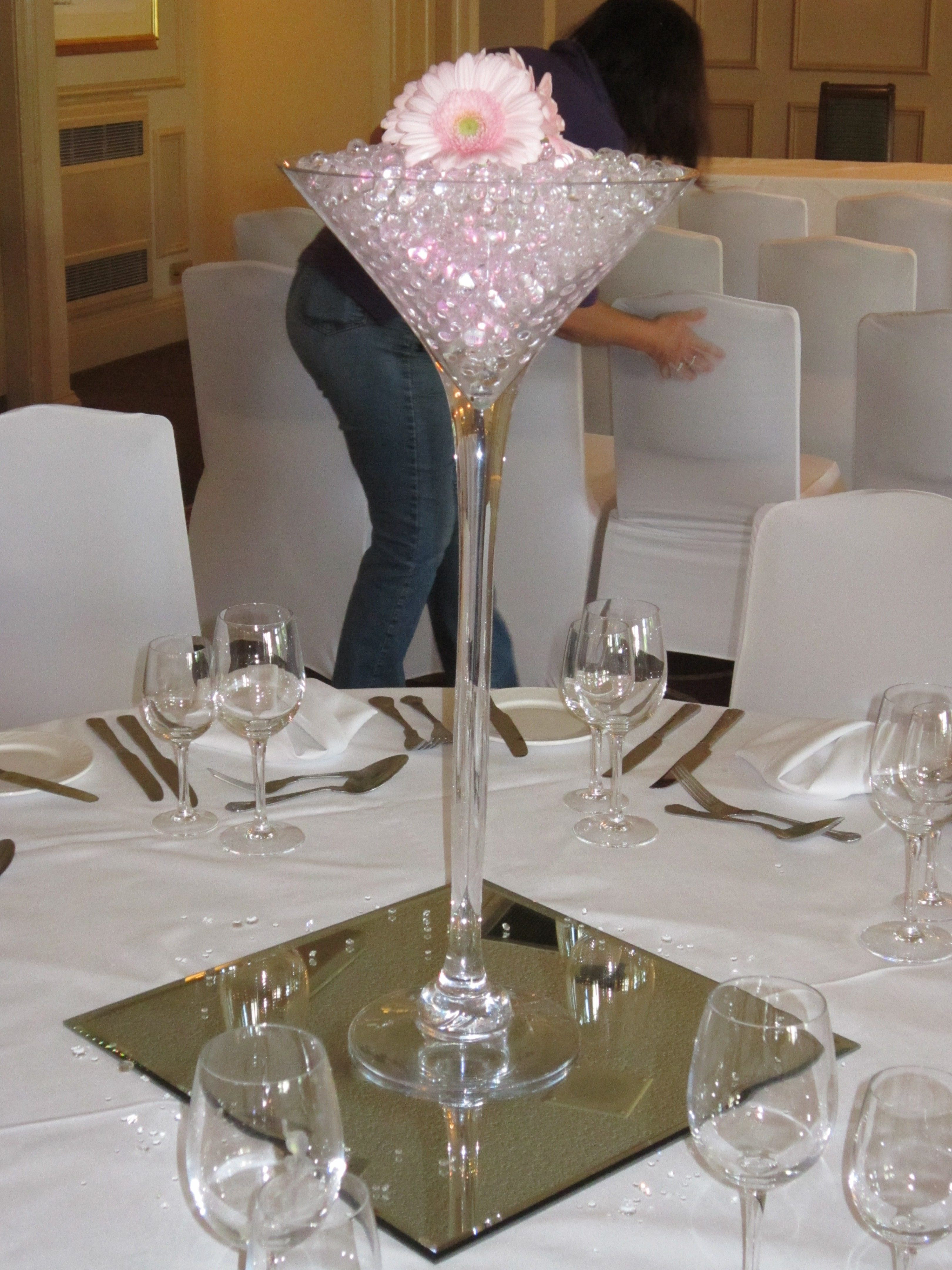 Water Beads for Vases Of Tall Martini Vase Of Gerberas and Lit Gel Beads Great Ideas In Tall Martini Vase Of Gerberas and Lit Gel Beads