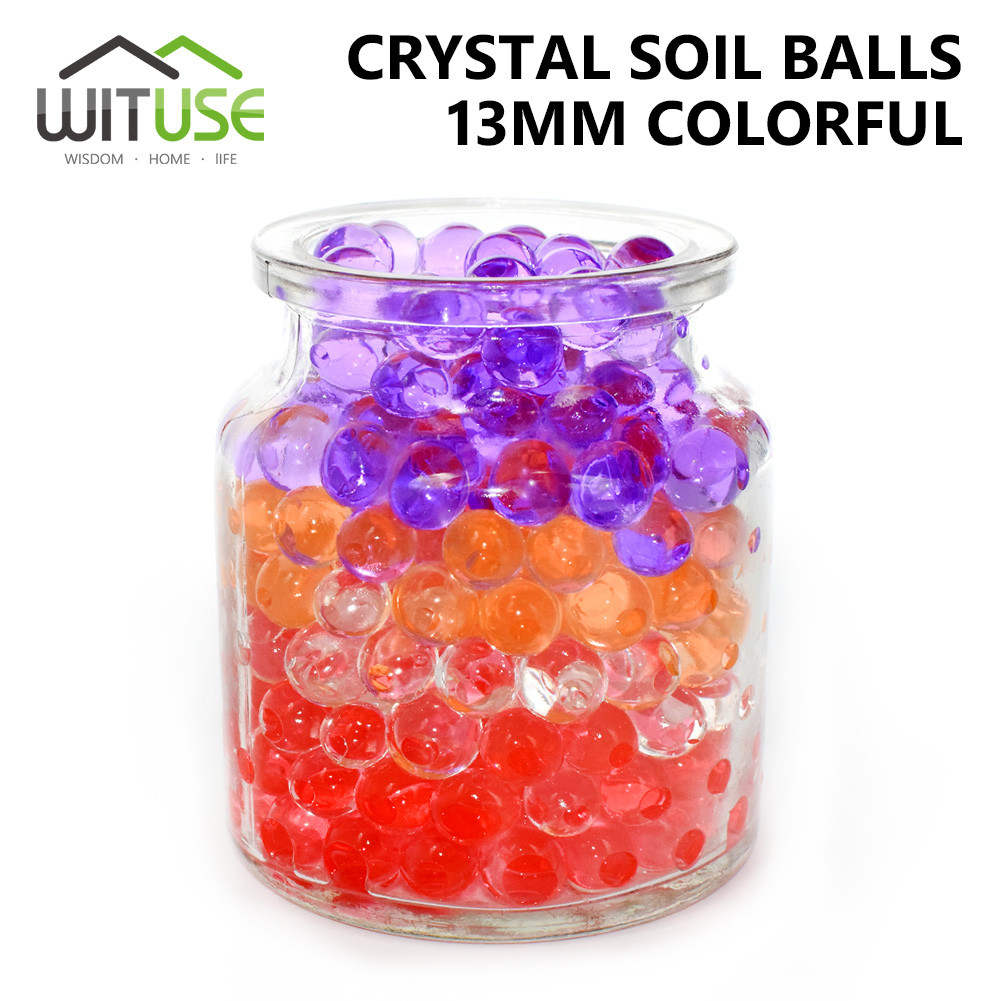 Water Beads for Vases Of Wituse 1000pcs 13mm Pearl Shaped Crystal soil Water Beads Mud Grow Throughout Wituse 1000pcs 13mm Pearl Shaped Crystal soil Water Beads Mud Grow Magic Jelly Balls Flower Cutting Decor Aqua soil wholesales In Crystal soil From Home