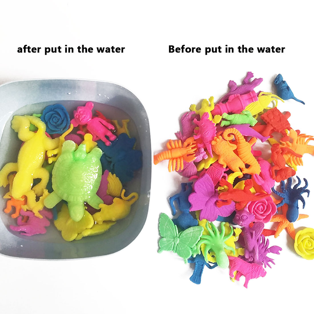 water gel beads for vases of kids toy home decoration magic hydrogel sea animals dinosaur wild intended for package 10pcs