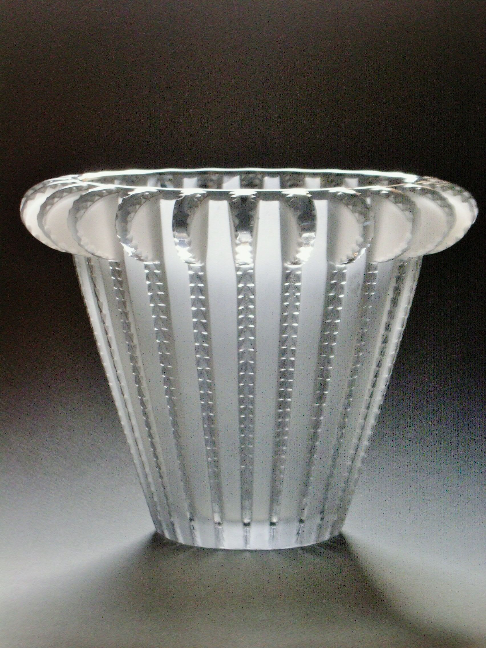 waterford 7 inch vase of 50 smoked glass vase the weekly world within vase royat rene lalique art glass