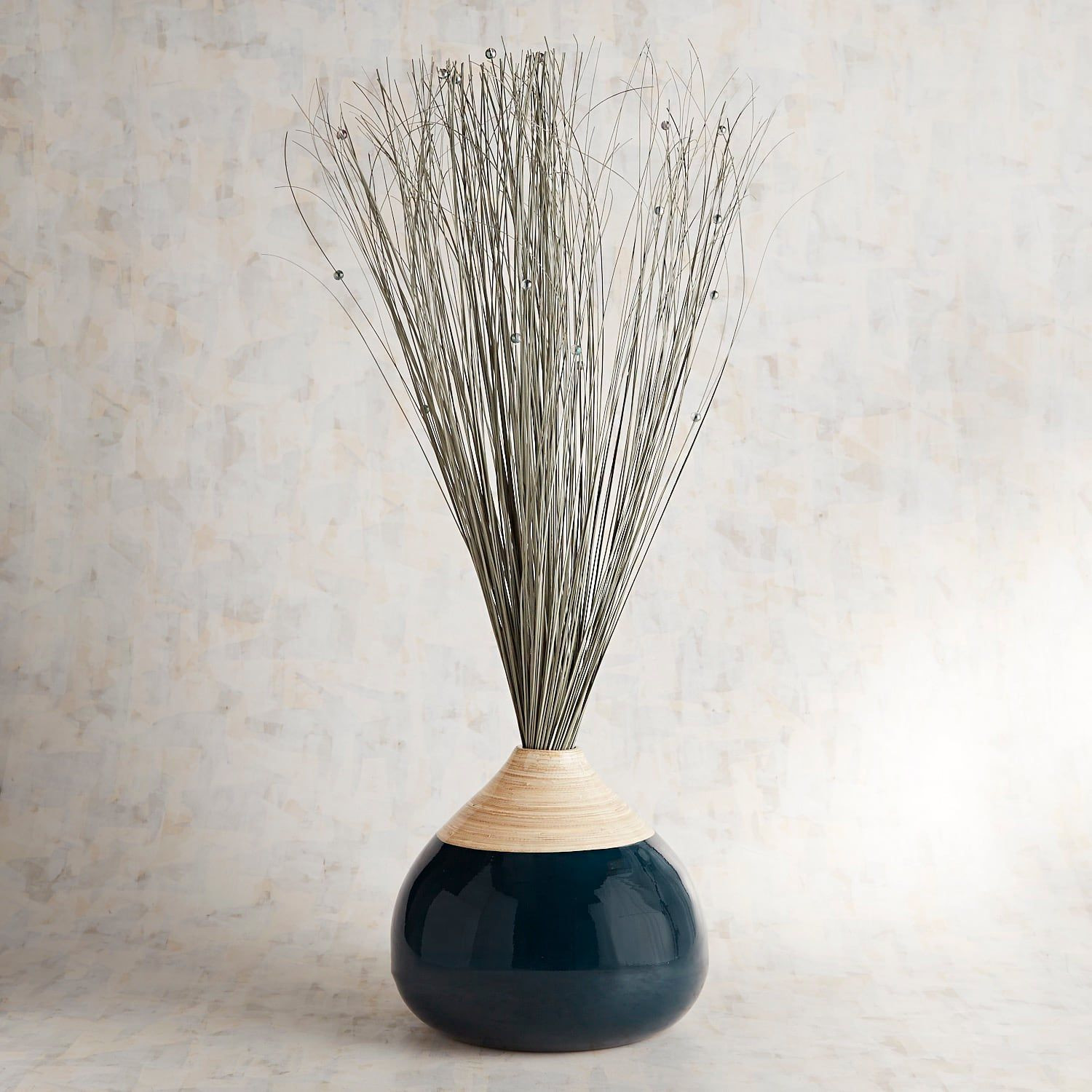 Waterford 7 Inch Vase Of Gray Navy Ting In Bamboo Vase Pinterest Navy Gray and Palm Throughout Gray Navy Ting In Bamboo Vase