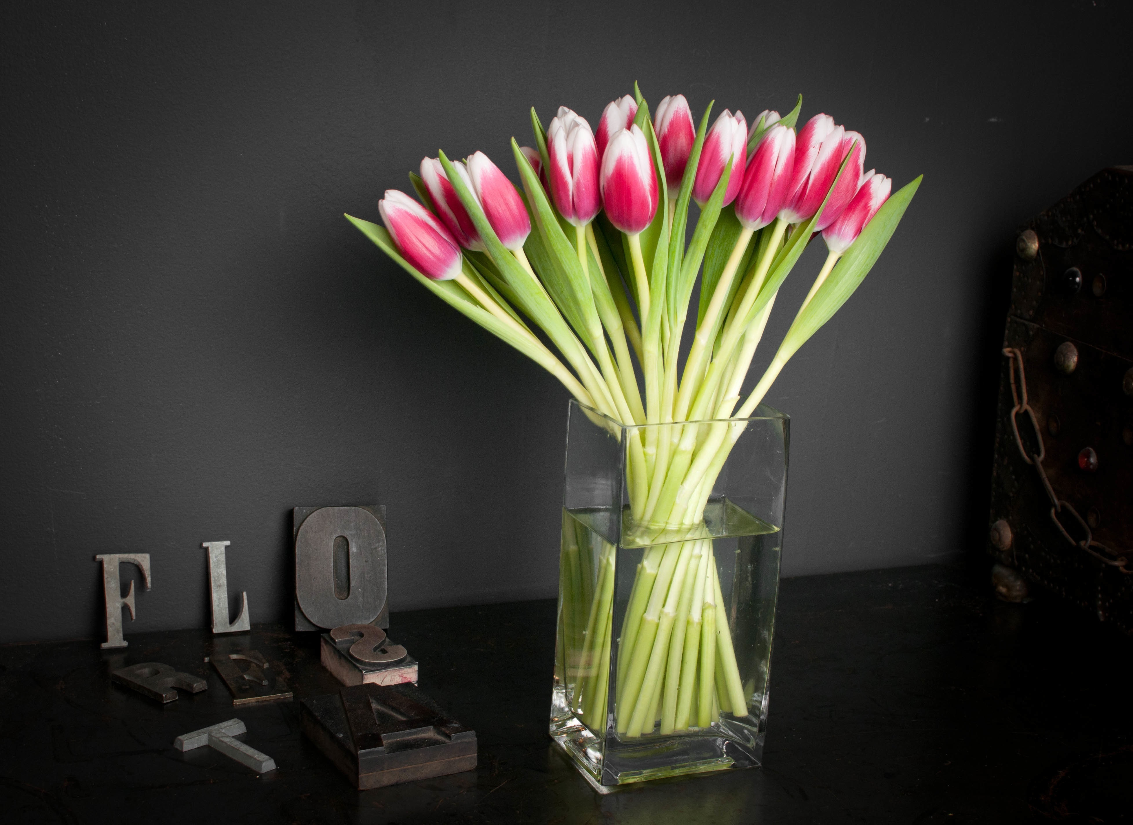 Waterford 9 Inch Vase Of Floresta Floral Design event Long island City Florists Intended for Tulips Arranged In A Simple Vase