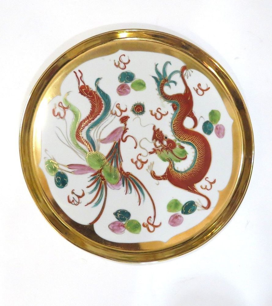 waterford balmoral 10 inch vase of vintage chinese dragon phoenix plate platter porcelain hand painted regarding vintage chinese dragon phoenix plate platter porcelain hand painted 10