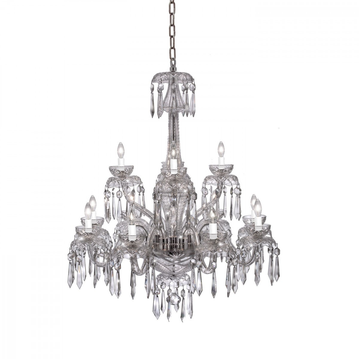 waterford balmoral vase 12 of powerscourt 12 arm chandelier waterford us intended for powerscourt 12 arm chandelier