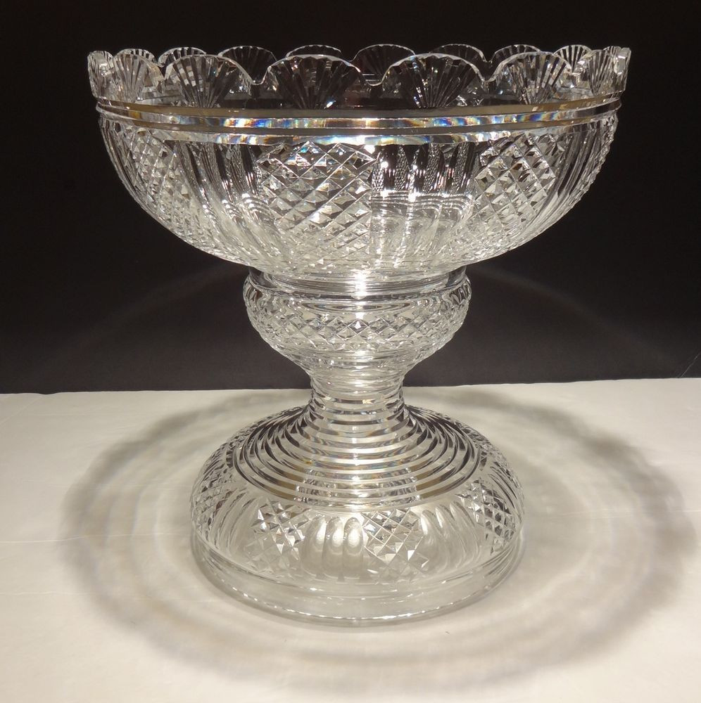 waterford balmoral vase of rare house of waterford crystal hibernia 2 piece centerpiece punch with regard to rare house of waterford crystal hibernia 2 piece centerpiece punch bowl ireland ebay waterford crystal