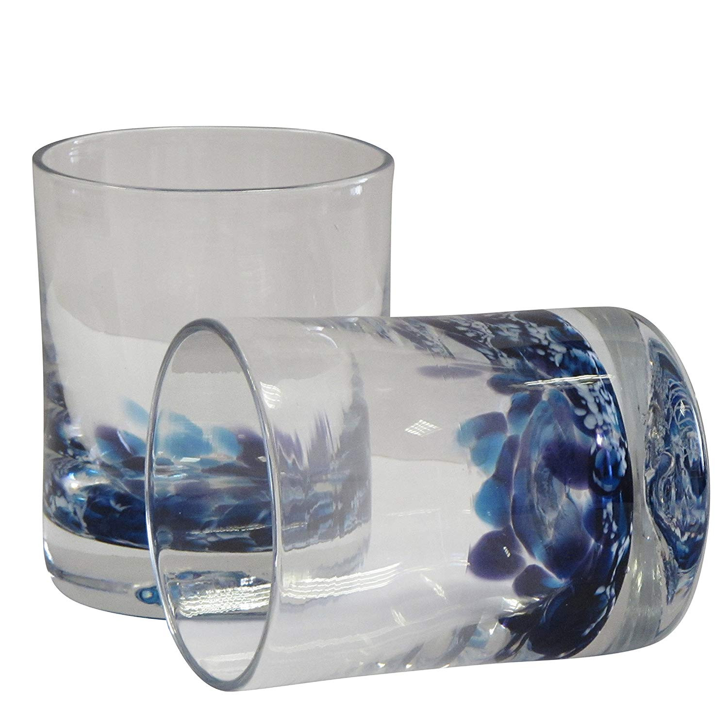waterford blue crystal vase of amazon com irish handmade whiskey scotch glasses by jerpoint for amazon com irish handmade whiskey scotch glasses by jerpoint glass studios ireland set of two hand blown heavy base glass tumblers blue heather