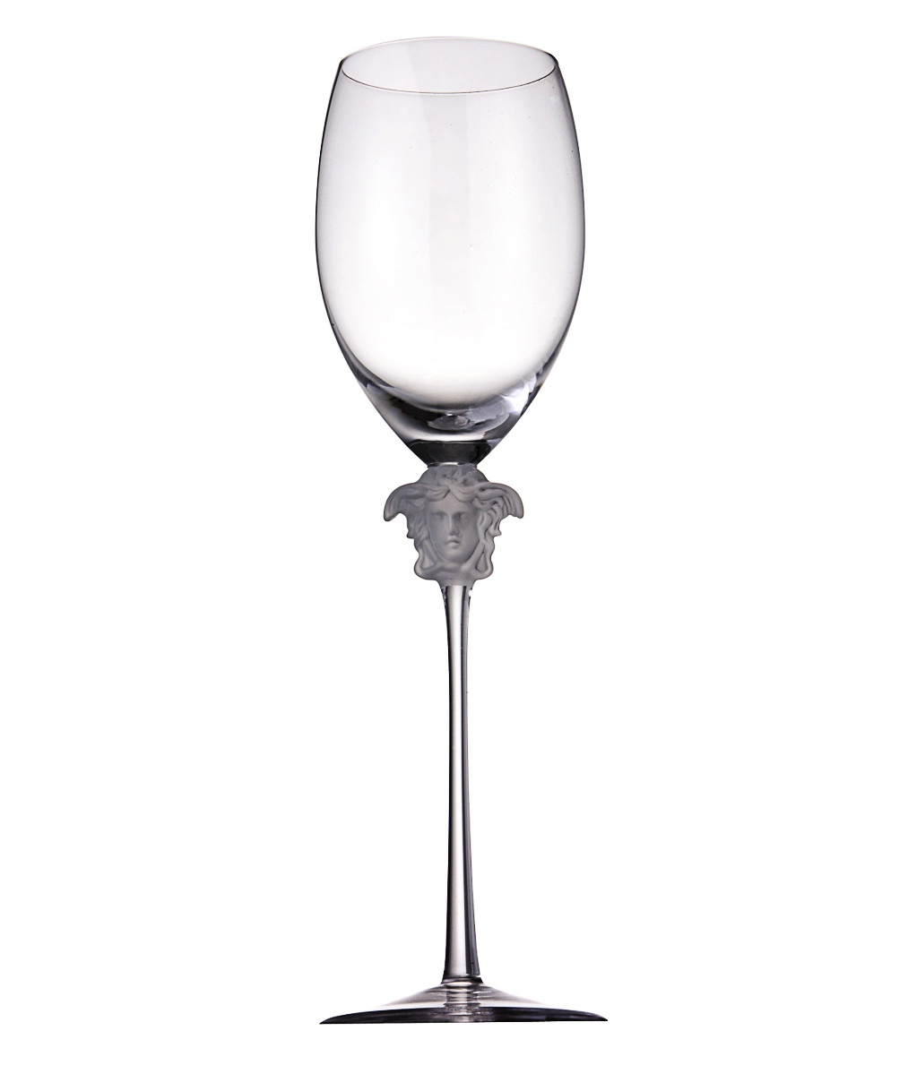 waterford lismore 8 crystal vase of glasses in medusa lumiere white wine 2pc set