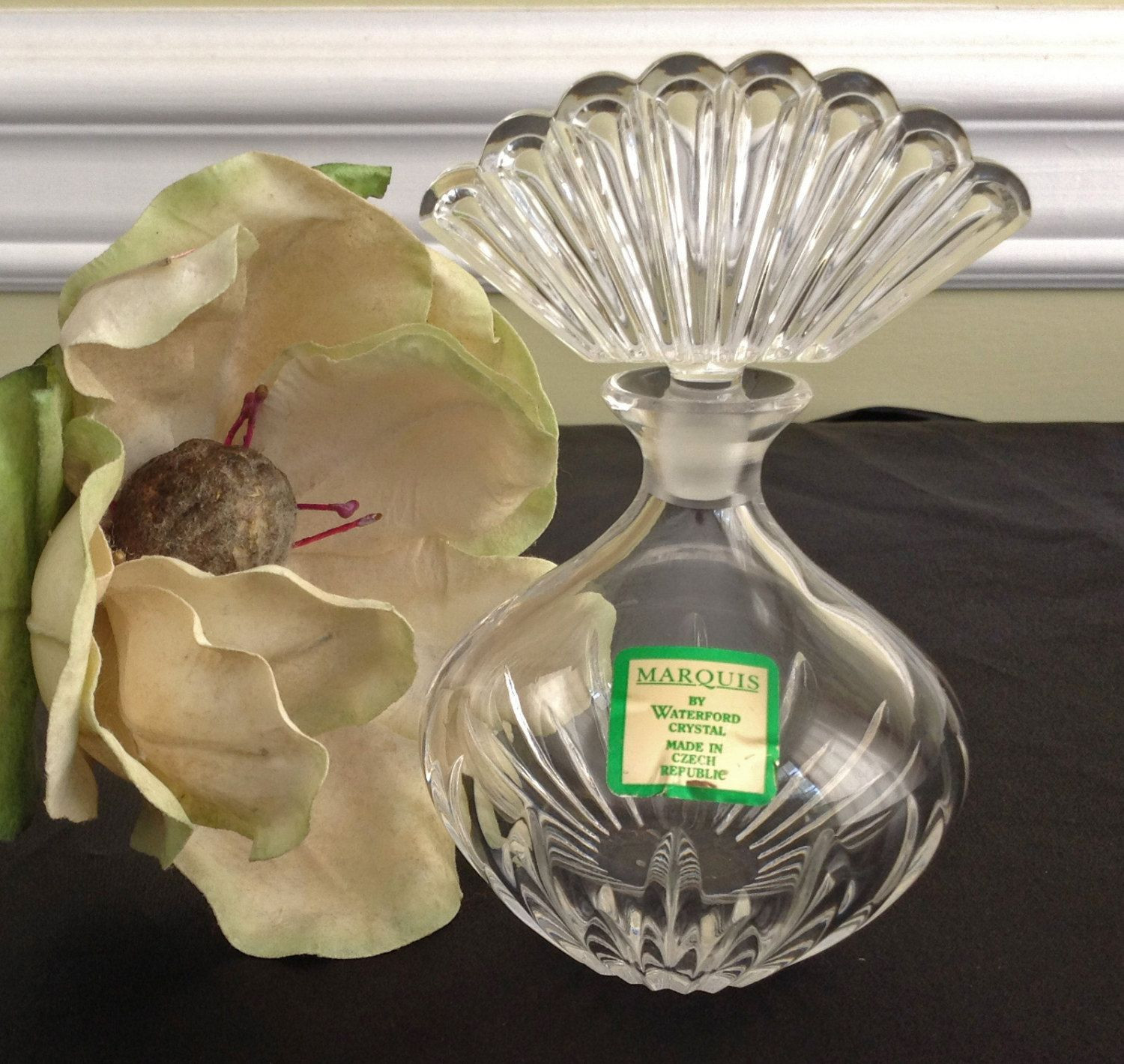 waterford lismore 8 crystal vase of marquis perfume bottle marquis by waterford mint condition for marquis perfume bottle marquis by waterford mint condition crystal perfume bottle by