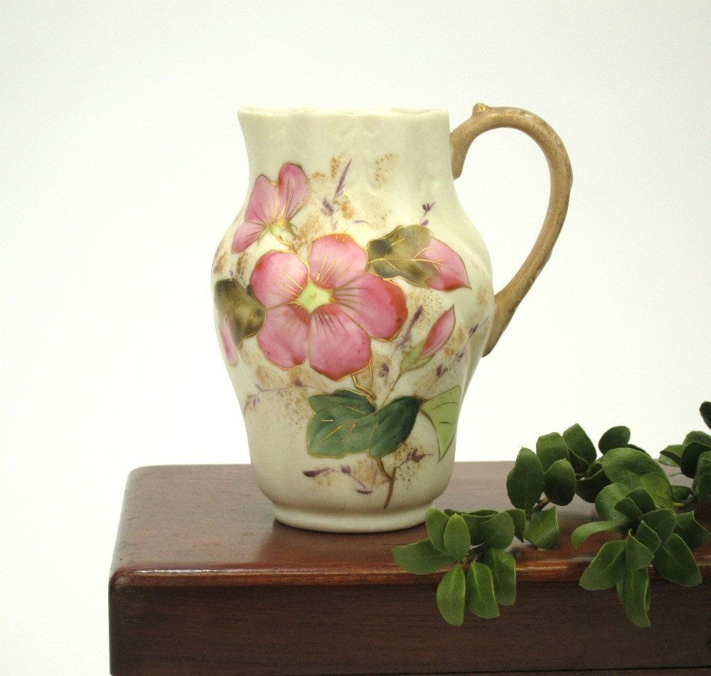 waterford lismore candy bud vase of vintage bavarian miniature pitcher anemone flowers hand painted intended for vintage bavarian miniature pitcher anemone flowers hand painted 16 00 via etsy