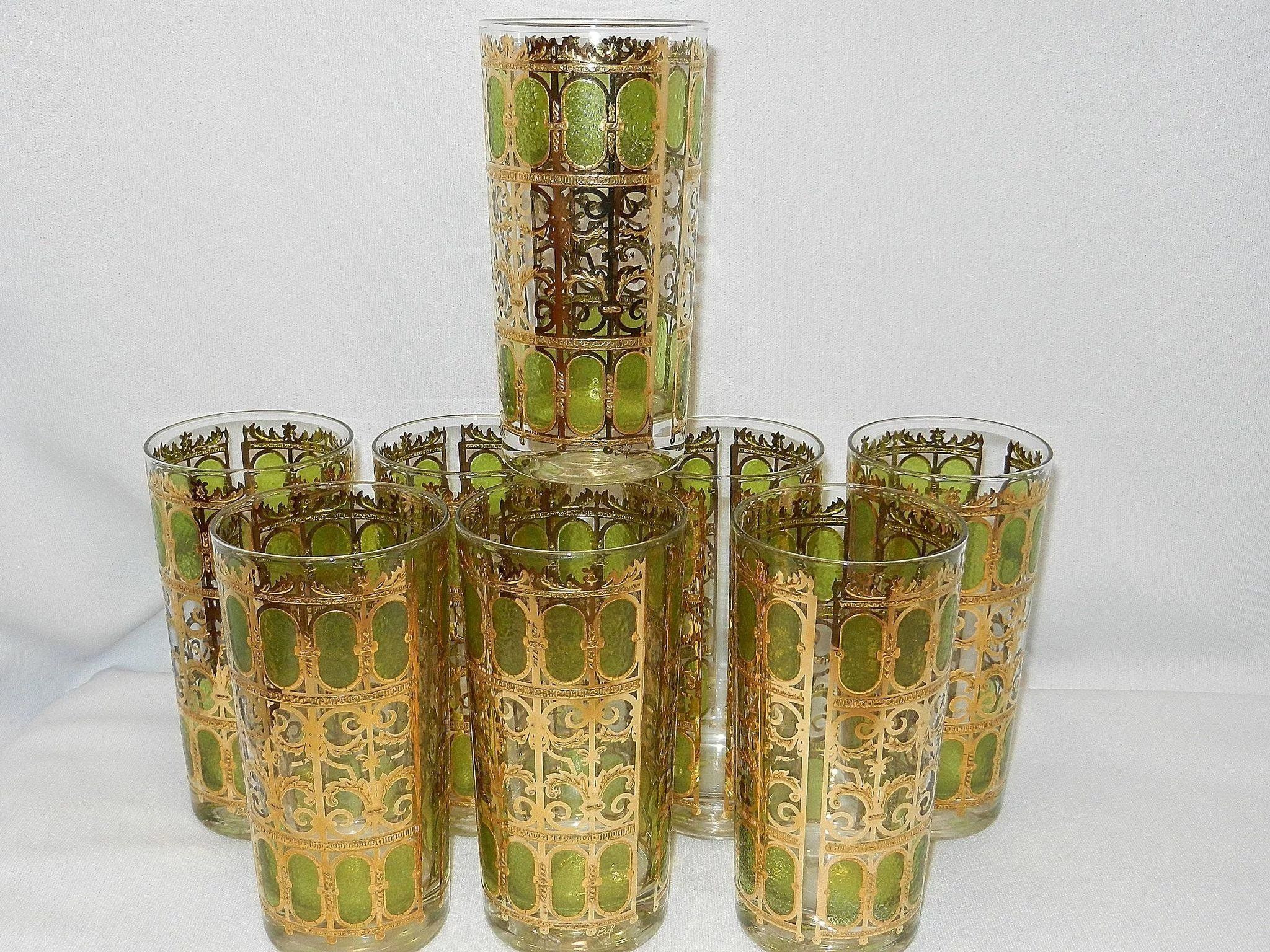 waterford lismore diamond vase of 48 nachtmann crystal vase the weekly world throughout vintage mid century culver green 22kt gold scroll pattern high ball