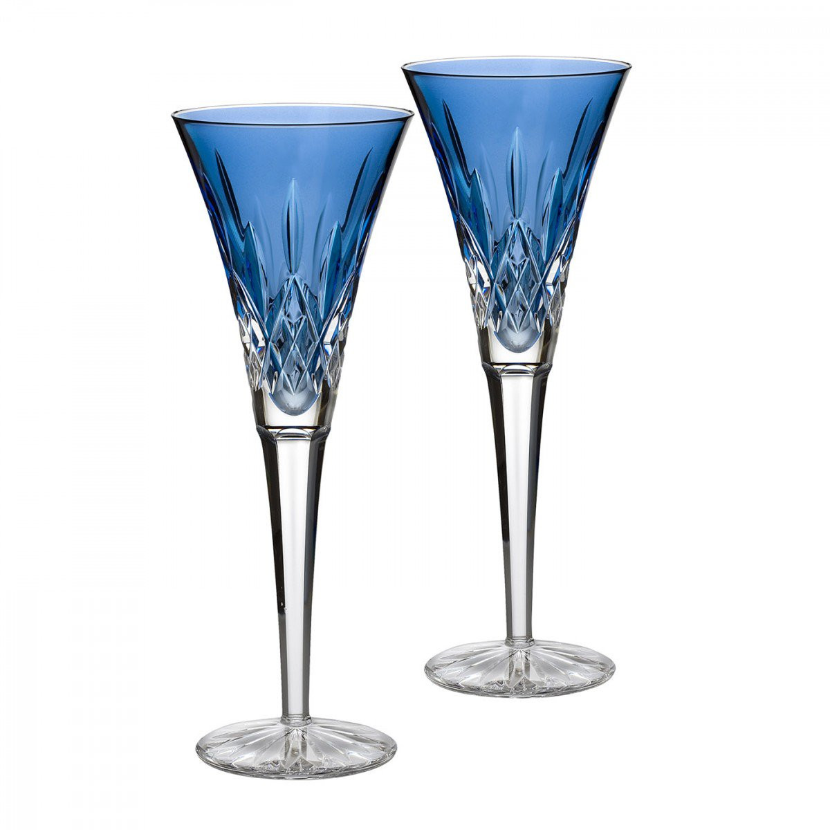 waterford lismore flared vase of lismore sapphire toasting flute pair waterford us intended for lismore sapphire toasting flute pair