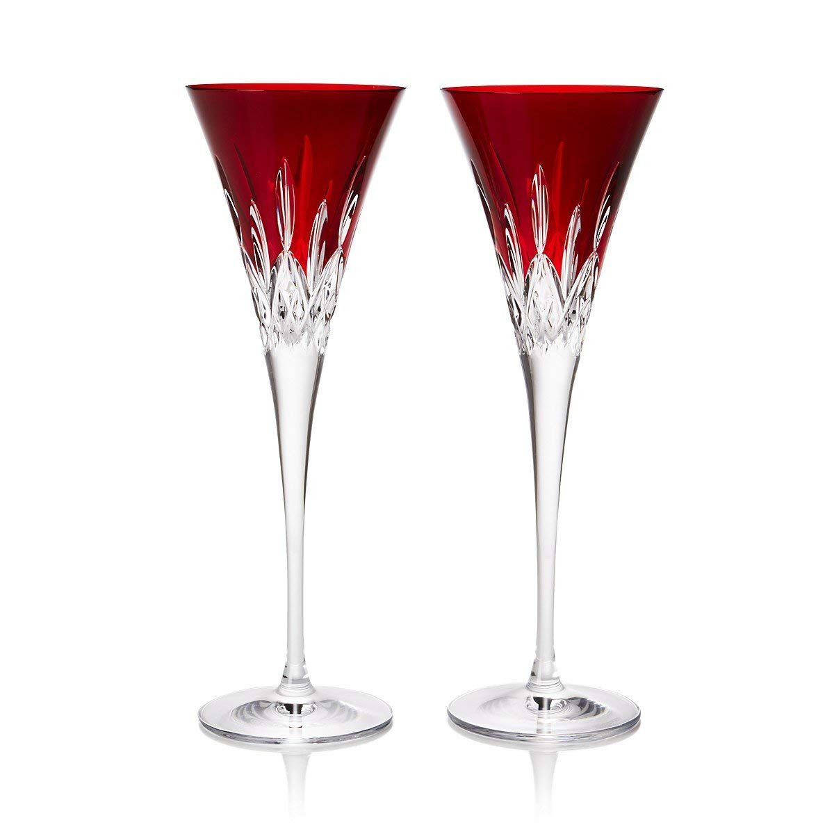 waterford lismore sapphire vase of amazon com waterford crystal lismore pops red flute pair in amazon com waterford crystal lismore pops red flute pair champagne glasses