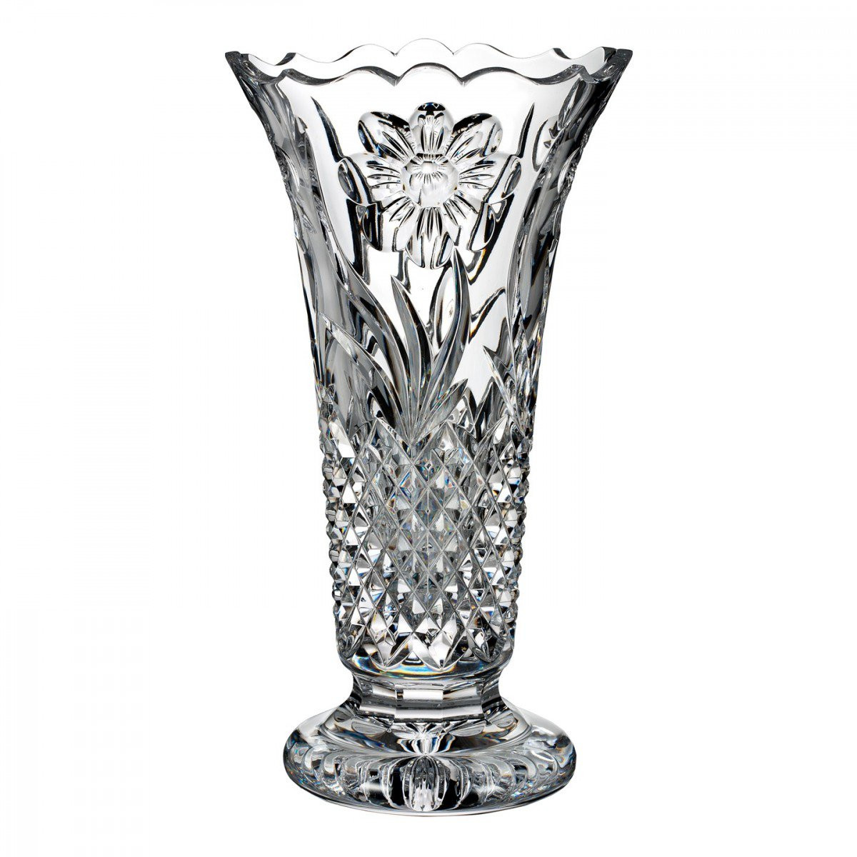 waterford maritana vase of flora fauna magnolia 12in vase house of waterford crystal us throughout flora fauna magnolia 12in vase