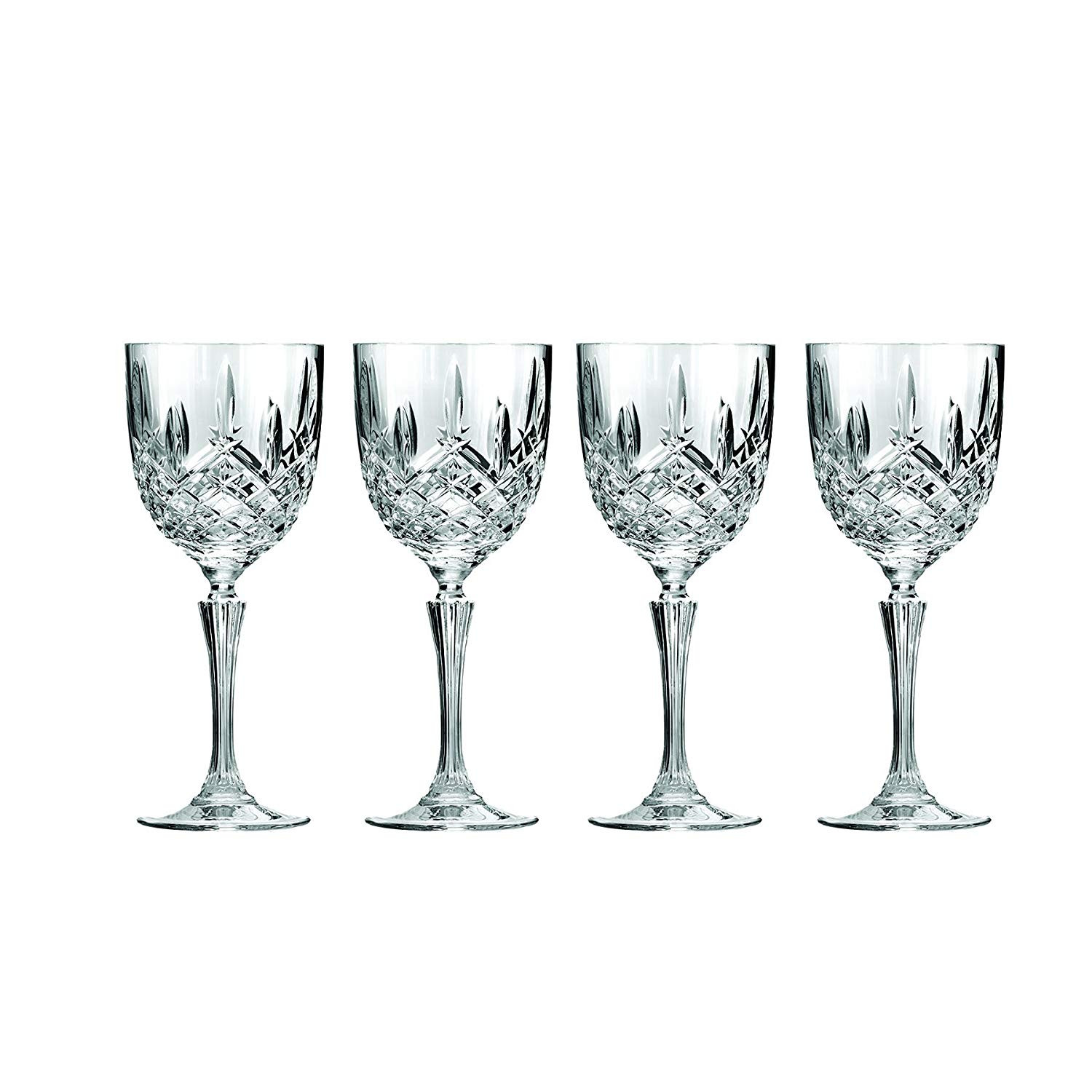 waterford markham vase of amazon com set of 4 marquis by waterford markham wine glasses inside amazon com set of 4 marquis by waterford markham wine glasses beautifully designed short stem wine glasses premium crystal red and white wine