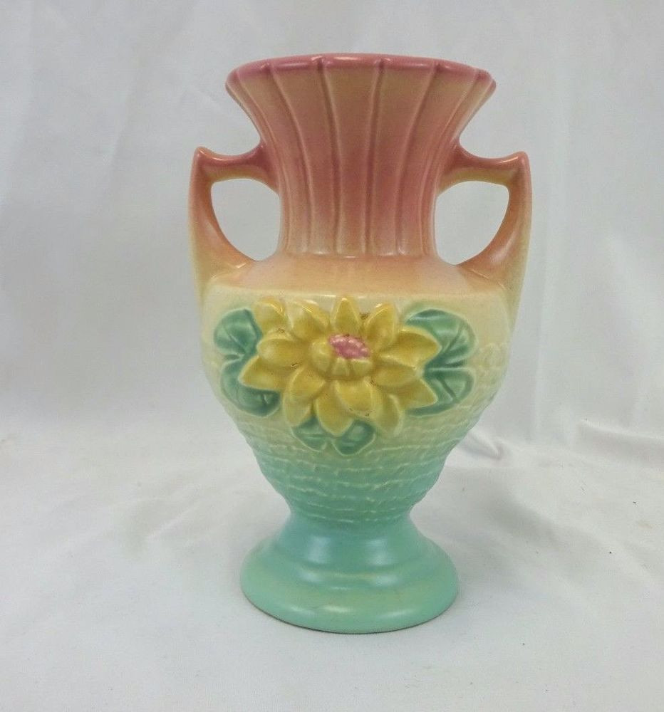 waterford vases ebay of hull art flower vase ceramic pink green ivory 6 5 for the home with hull art flower vase ceramic pink green ivory 6 5