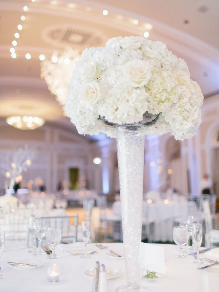 17 Trendy Wedding Centerpieces Using Vases 2021 free download wedding centerpieces using vases of luxurious silver and white downtown st pete wedding pinterest pertaining to tall white wedding centerpiece flowers with hydrangea and roses in white vases