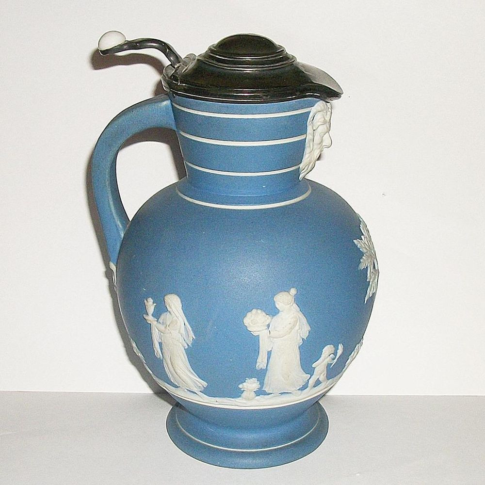 wedgwood blue jasperware vase of wedgwood jasperware pitcher with antique 1860s wedgwood jasperware syrup pitcher cruet wedgwood