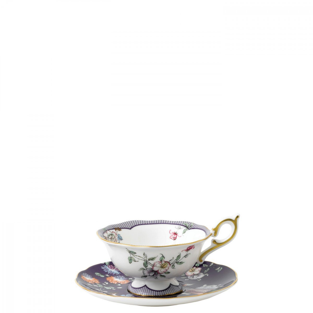 Wedgwood Bone China Wild Strawberry Vase Of Wonderlust Midnight Crane Teacup Saucer Wedgwooda Uk Throughout Wonderlust Midnight Crane Teacup Saucer