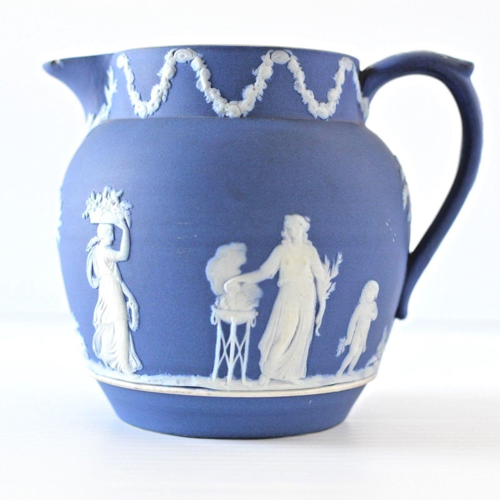 wedgwood green jasperware vase of wedgwood jasperware pitcher with regard to wedgwood jasperware water pitcher cobalt blue jug it measures 4 1 2 tall