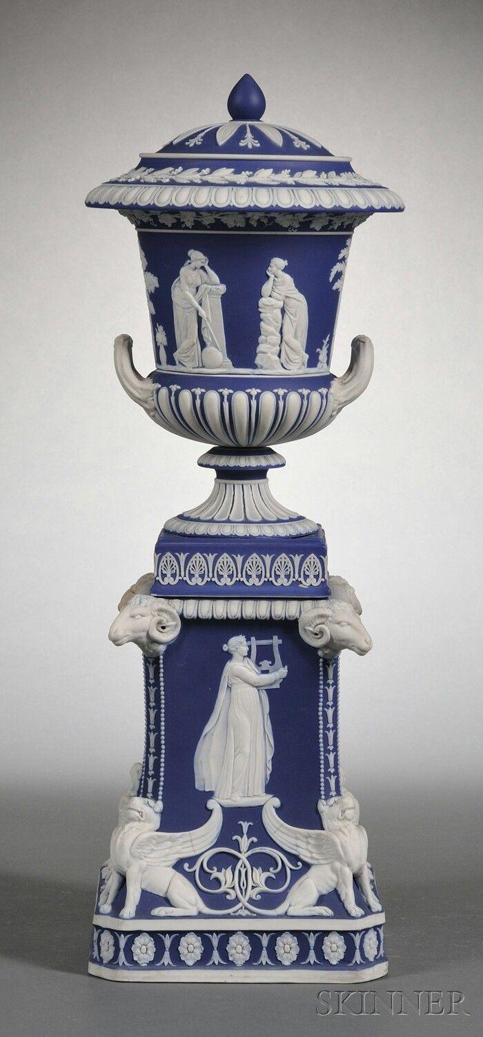 wedgwood jasperware portland vase of 48 best jasperware images on pinterest wedgwood porcelain and jasper inside wedgwood dark blue jasper dip covered vase on stand england 19th century applied