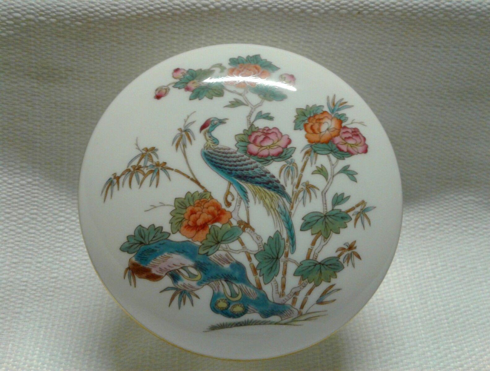 wedgwood kutani crane bud vase of wedgwood bone china asian peacock trinket box gold trim 3 7 8 in 1 of 4free shipping