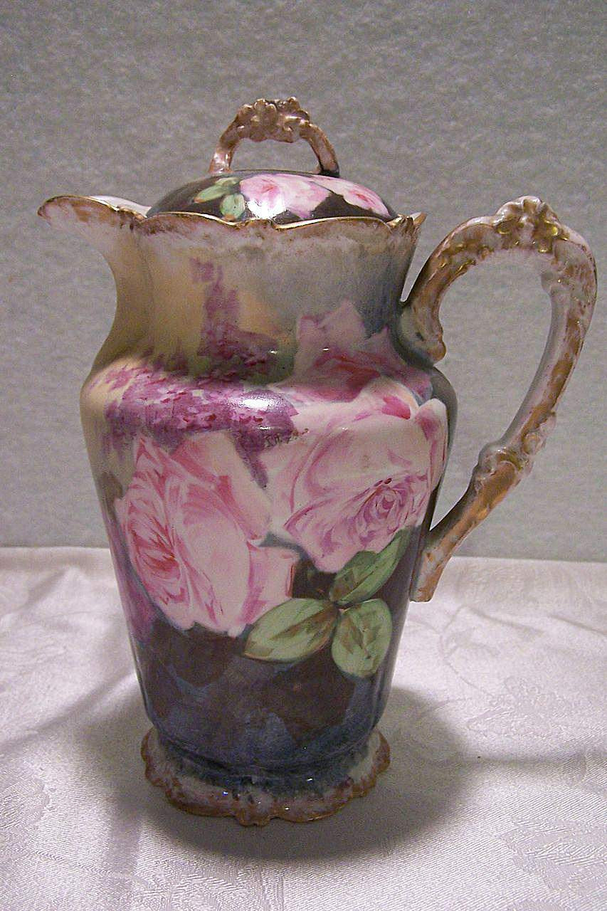 weller pottery vase wild rose of limoges porcelain identification and value guide within chocolatepot 589d31a35f9b58819ccde35f