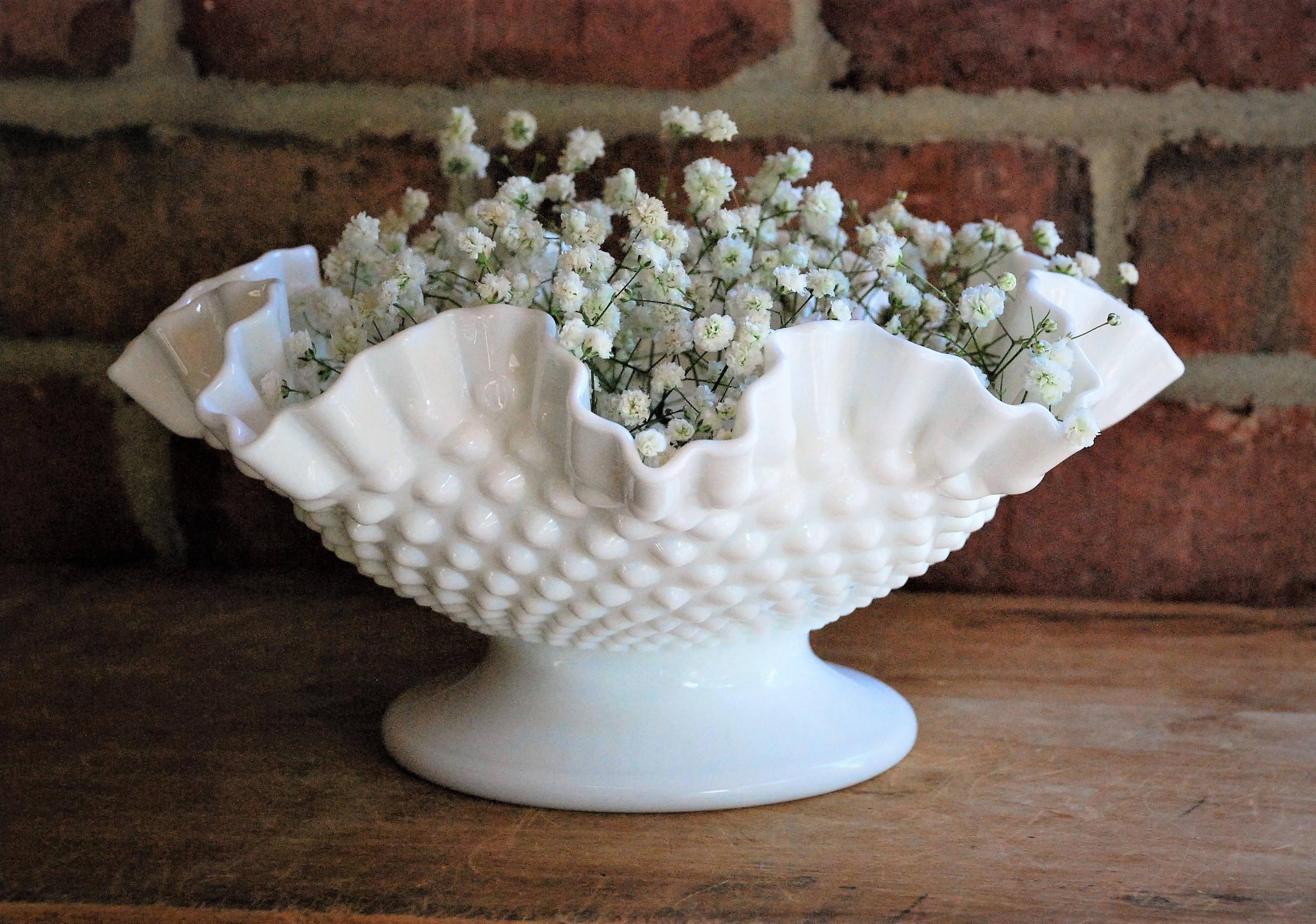 "westmoreland milk glass bud vase of free shipping vintage fenton white milk glass fruit bowl etsy with dŸ""Žpowia™ksz"