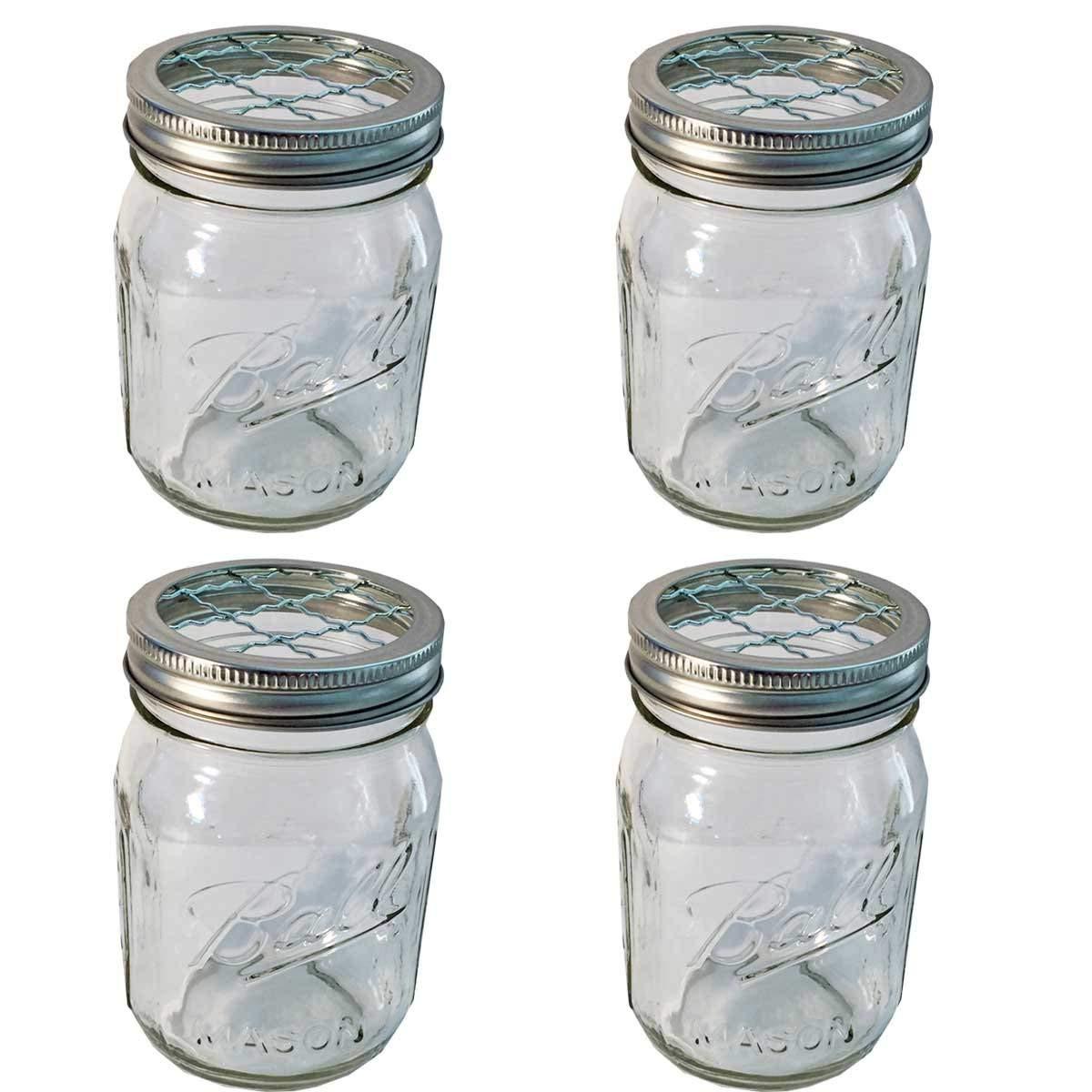 what size mason jar for vase of amazon com 4 mason jars with 4 frog lid inserts regular mouth pint throughout amazon com 4 mason jars with 4 frog lid inserts regular mouth pint 16 oz bundle clear kitchen dining