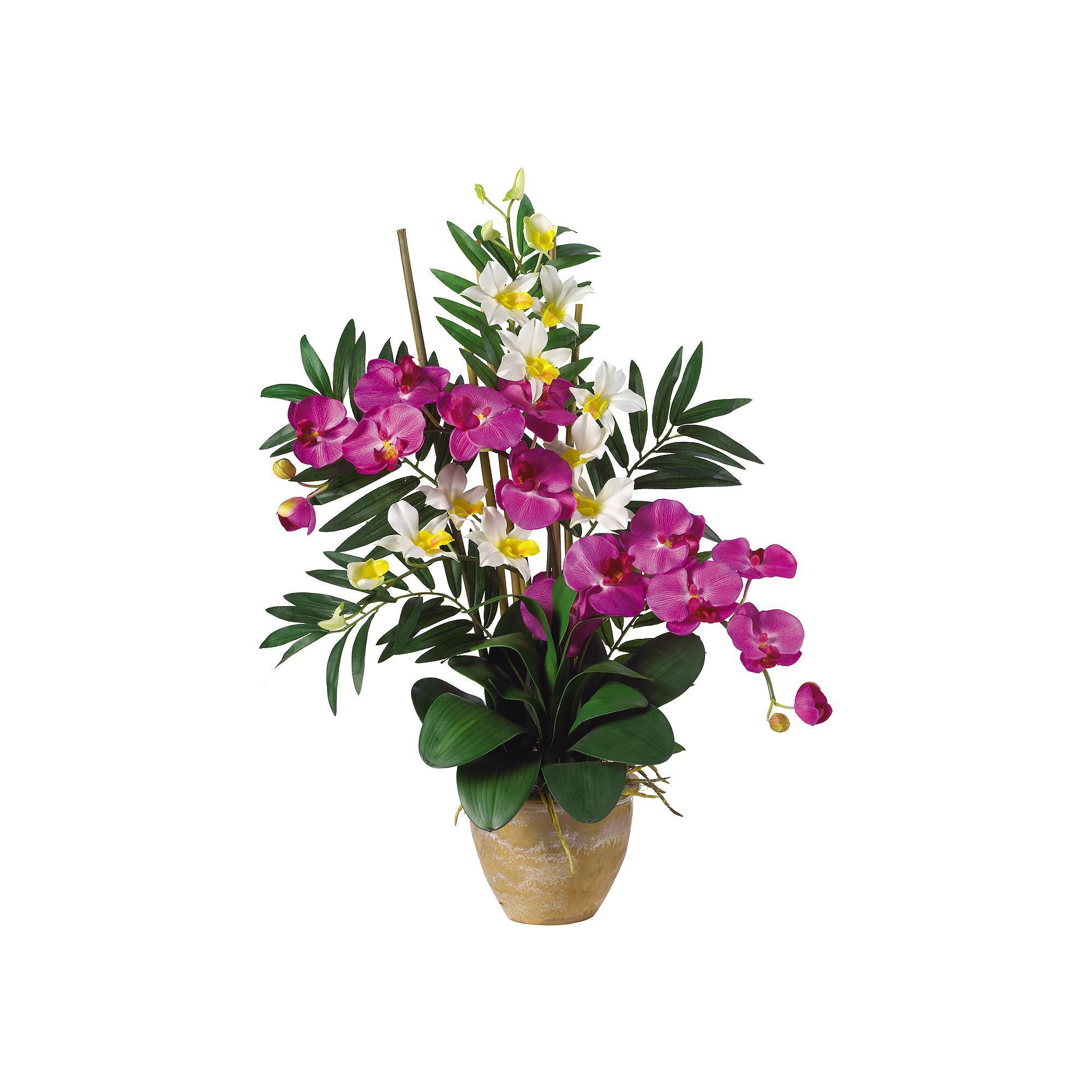 where to buy silver vase orchids of nearly natural silk phalaenopsis and dendrobium orchid arrangement within nearly natural silk phalaenopsis and dendrobium orchid arrangement multicolor