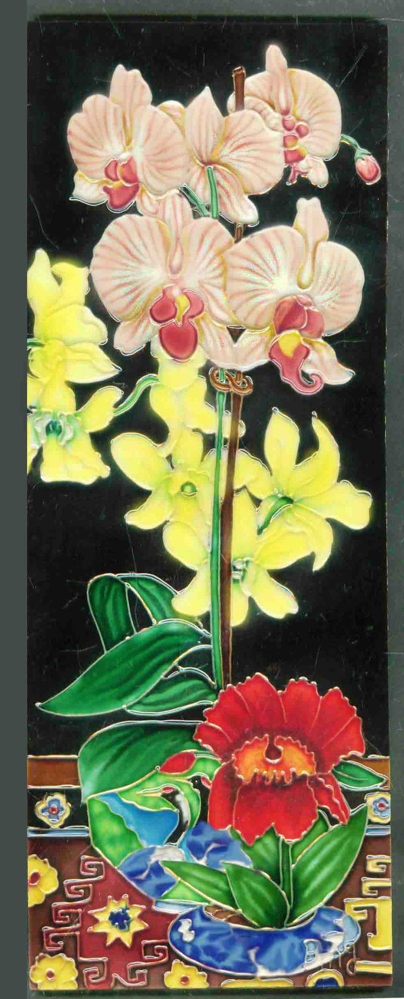 where to buy silver vase orchids of pink yellow orchid vase tile wall decor yellow orchid pink yellow with pink yellow orchid vase tile wall decor