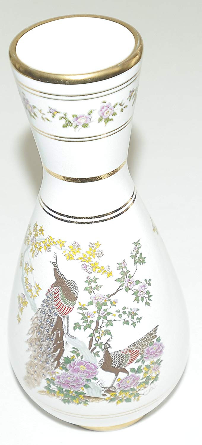white and gold ceramic vase of neofitou handmade in greece 24k gold white vase peacocks in the intended for neofitou handmade in greece 24k gold white vase peacocks in the garden of gods and goddess of ancient greece amazon co uk kitchen home