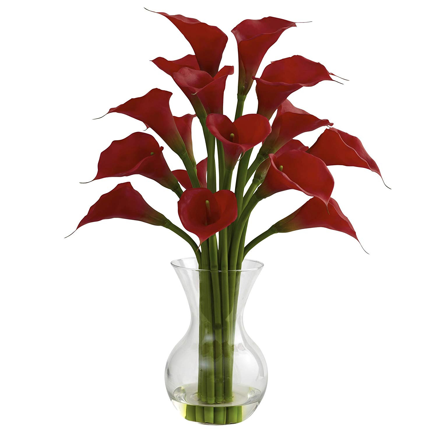 white calla lilies in vase of amazon com nearly natural 1299 cr galla calla lily with vase pertaining to amazon com nearly natural 1299 cr galla calla lily with vase arrangement cream home kitchen