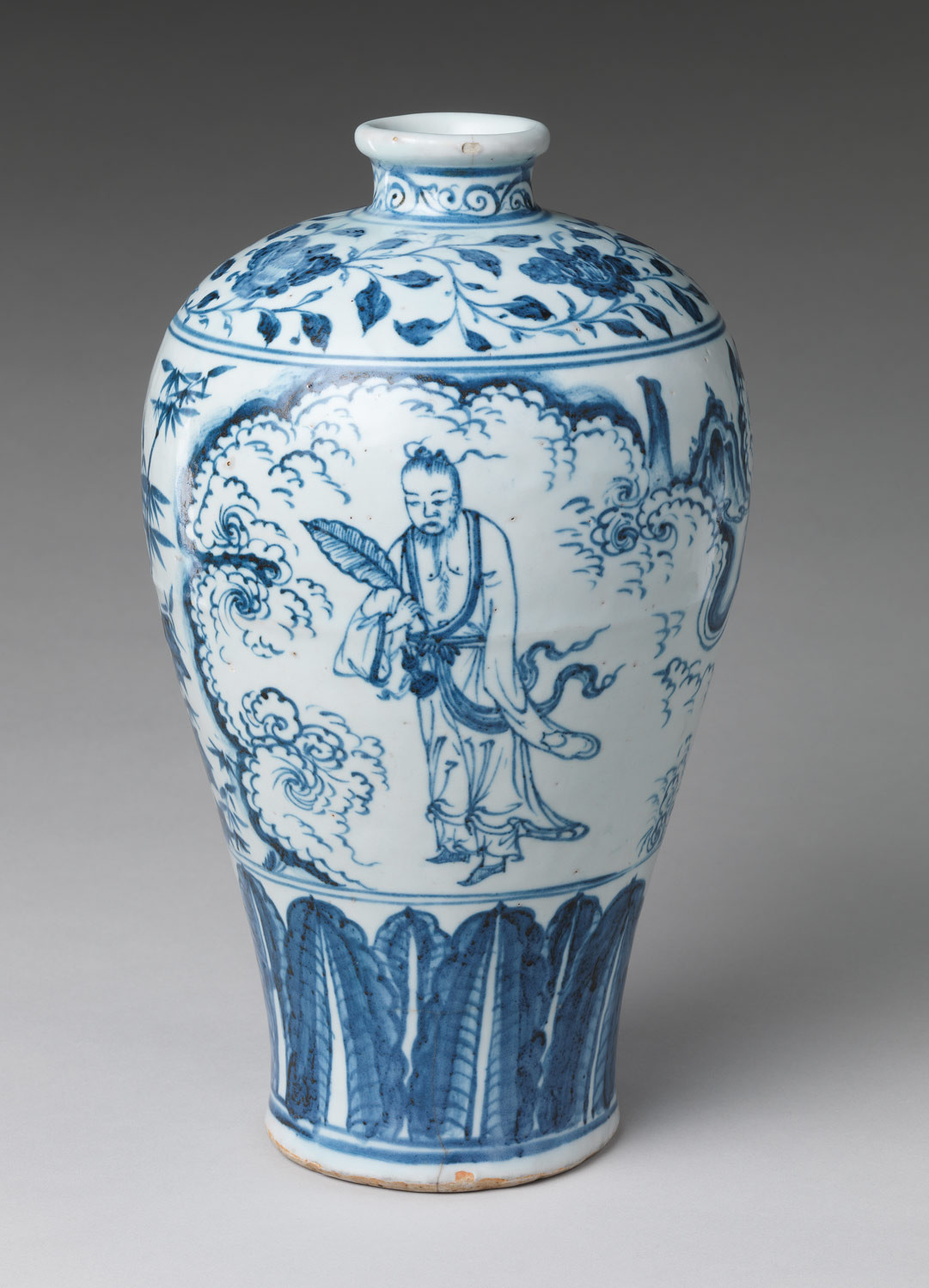 white ceramic deer head vase of daoism and daoist art essay heilbrunn timeline of art history with vase in meiping shape with daoist immortal zhongli quan