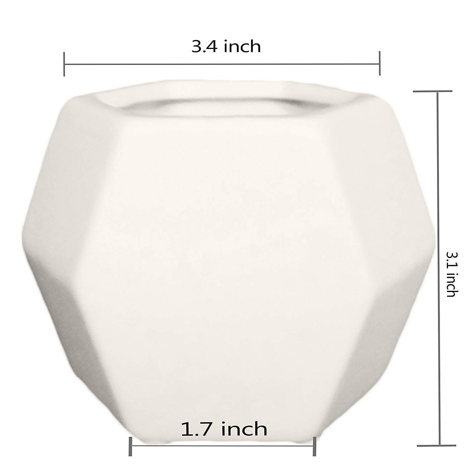 white ceramic geometric vase of amazon com ceramic small collection geometric planter 3 pack with amazon com ceramic small collection geometric planter 3 pack white hexagon succulent plant pot planter container garden outdoor