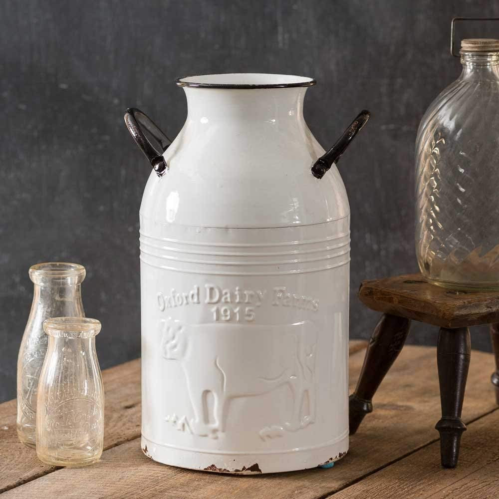 White Ceramic Pitcher Vase Of Amazon Com Large White Farms Milk Can 14 Container Flower Pitcher with Regard to Amazon Com Large White Farms Milk Can 14 Container Flower Pitcher Vase for Home Decoration Rustic Farmhouse Style Home Kitchen