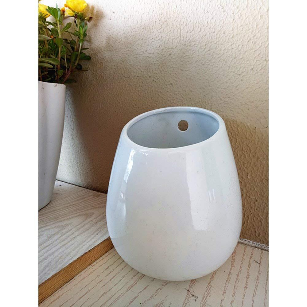white ceramic round vase of amazon com large white ceramic pot indoor wall ceramic planter intended for amazon com large white ceramic pot indoor wall ceramic planter table ceramic vase indo